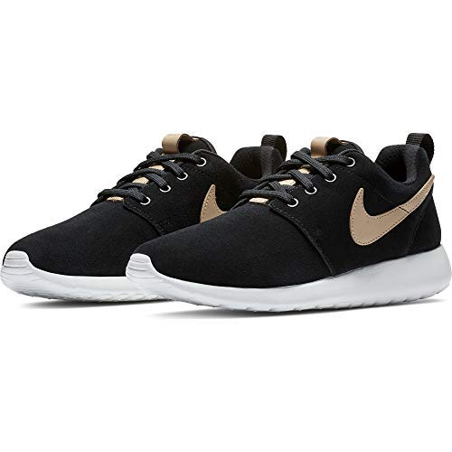 Nike Roshe One Premium Shoe Sz 10 Womens Running Black/Vachetta Tan-Summit White Shoes