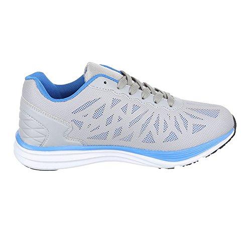 Ital-Design - Zapatillas de Material Sintético para mujer Gris - gris azul