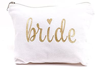 Bride Makeup Bag for Weddings, Bridal Showers, and Bachelorette Parties
