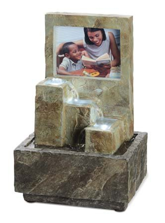 OK LIGHITNG FT-1176-3L 9.75 in. H Picture Frame Fountain With Led