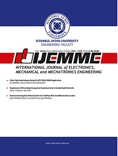 International Journal of Electronics, Mechanical and Mechatronics Engineering (IJEMME) (Year: 2018 Volume 8 Number 1) (International Journal Of Mechanical & Mechatronics Engineering)