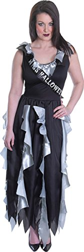 Women's Halloween Fancy Dress Party Outfit Scary Zombie Prom Queen Costume -