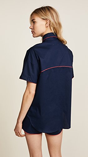 Maison du Soir Women's Jackson PJ Top, Navy, Medium by Maison Du Soir (Image #3)