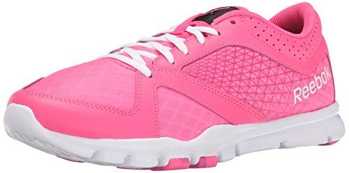 Reebok Women's Yourflex Trainette 7.0 L MT Solar Pink/Charged Pink/White/Black/Avon 7 B - Medium
