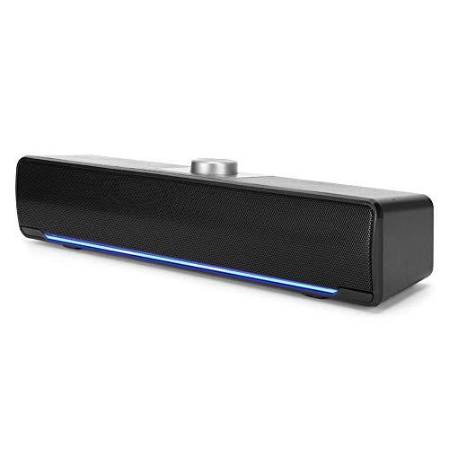 Notebook-luidspreker, multimedialuidspreker Glow Mood Light voor thuis voor kantoor(black)