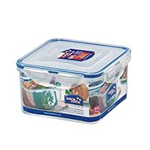 Lock&Lock 40-Fluid Ounce Square Food Container, Short, 5-Cup