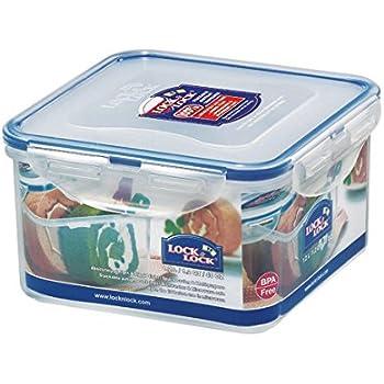 LOCK & LOCK Airtight Square Food Storage Container 40.58-oz / 5.07-cup