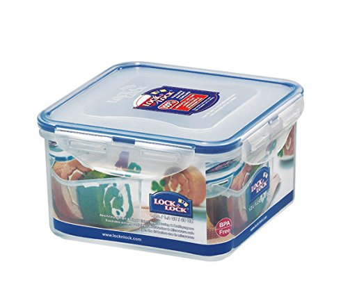 LOCK & LOCK Airtight Square Food Storage Container 40.58-oz / 5.07-cup (Lock Christmas)