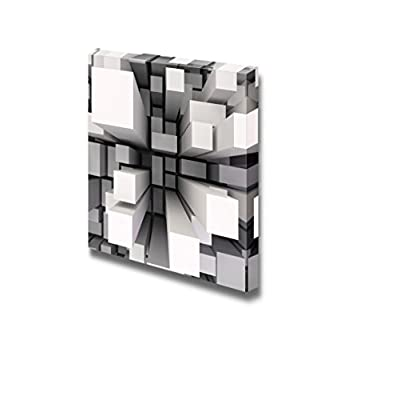 Classic Artwork, Fascinating Portrait, 3D Abstract Square Pillar Geometric Pattern Wall Decor