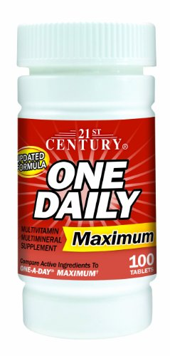 21st Century One Daily Tablets - 21st Century One Daily Maximum Tablets, 100 Count (Pack of 2)