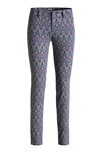 Esprit Mit Floralem Druck - Pantalones Mujer Multicolor (DARK PINK 3 652)