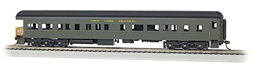 Scale Passenger Car Trucks - Bachmann Industries NYC #9 Ho Scale 72' Heavyweight Observation Car with Lighted Interior