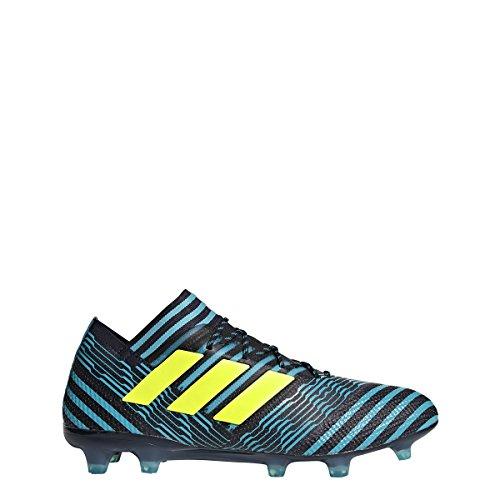 Adidas Nemeziz 17,1 Fg Cleat Mens Fotboll 8 Legend Bläck-sol Gul-blå
