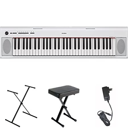 Black with AC Power Adaptor Yamaha NP12 61-Key Lightweight Portable Keyboard