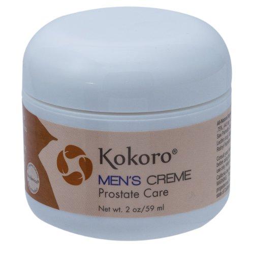 Kokoro Men's Creme, Natural Progesterone, Herbal Prostate Care, 2oz Jar