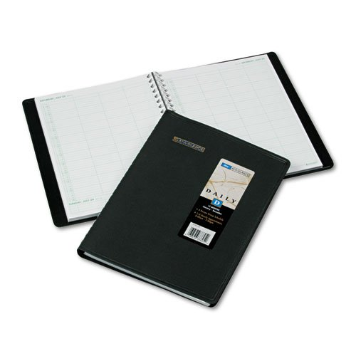 AT-A-GLANCE Recycled Four-Person Group Daily Appointment Book, 8 x 11 Inches, Black, 2012 (Recycled 4 Person)