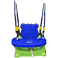 Welo Plastic Honey Bee 5 In 1 Baby Booster Seat Swing -Green (Multicolour)