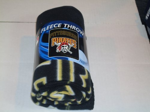 Pirates Fleece Throw - MLB Pittsburgh Pirates Wicked Printed Fleece Throw, 50-inch by 60-inch