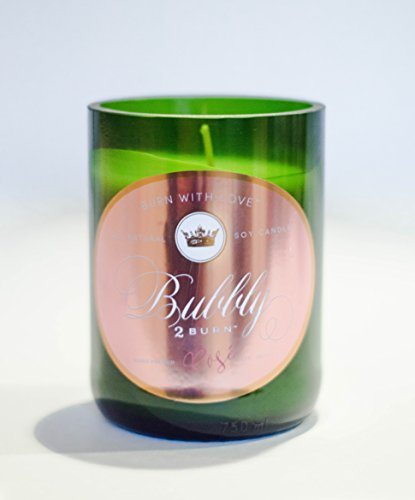 Raspberry Syrah Wine (Bubbly2Burn Champagne Bottle Candle - Rosè Champagne [11oz. 75hr] All-Natural Soy Wax - Hand-Poured Authentic Champagne Bottle | Essence of Elegant Rose Crystals, Midnight Orchid & Light Vanilla)