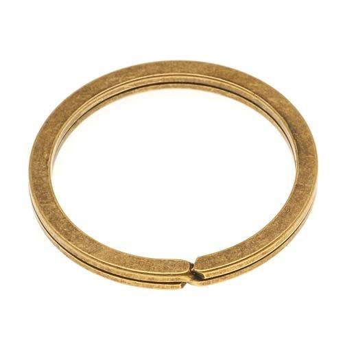 Metal Designs Nunn (Nunn Design Antiqued 24kt Gold Plated Key Ring 1 1/4 Inch (1))