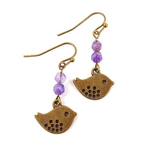 amethyst-gemstone-mid-length-bronze-bird-earrings