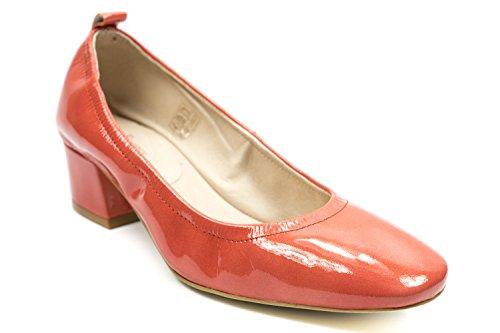 Zapatos Couleur Mujer Talón Pourpre De Abierto q5w65vR8A