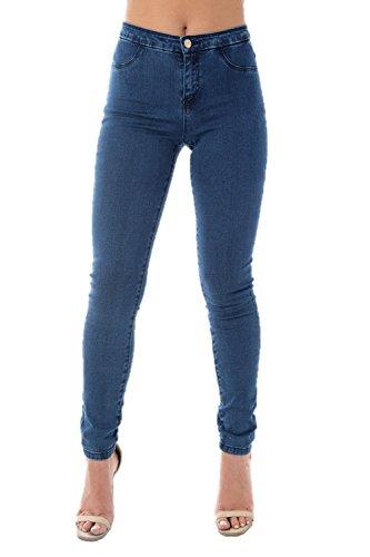Ladies Ex High Street Blue Super Stretch Jeans Womens Super Flex Jeggings