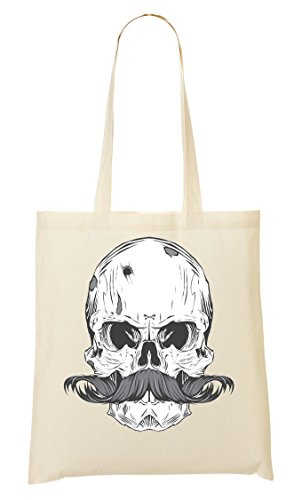 Collection Skull Handbag Not Mess Do Skull Bones Shopping Pirate Him Mustache Bag HOxfq4ww