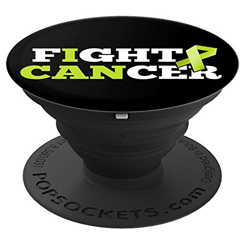 Fight Cancer Non-Hodgkin Lymphoma Lime Green Support Ribbon - PopSockets Grip and Stand for Phones and Tablets
