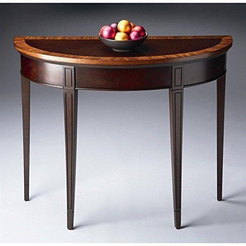BUTLER 1533211 HAMPTON CHERRY NOUVEAU DEMILUNE CONSOLE TABLE