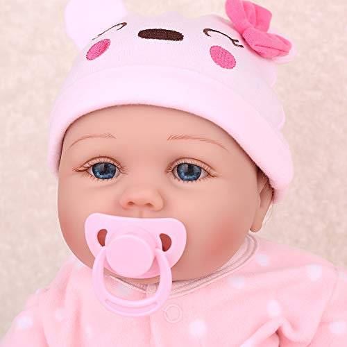 CHAREX Reborn Baby Dolls Accessories Pink and Blue 2pcs Magnet Pacifier
