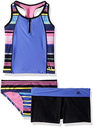 Girls 2 Piece Tankini - ZeroXposur Big Girls' Two Piece Tankini Swimsuit Set, Limbo Marina, 16