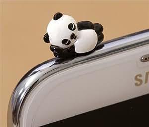 Bonito protector de entrada de auriculares de un panda