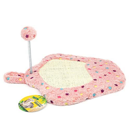 (Jim-Hugh Furniture Scratchers Hangable cat Scratch Board-pet Toys with a Spring Ball)