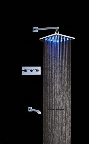 Sita Platinum Led Shower Set With Diverter Mixer And Led Spout Led6104 Available In 4 Sizes Amazon Com