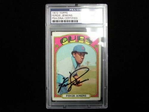 Jenkins Cubs Baseball Autographed Chicago (1972 Topps #410 Fergie Jenkins Chicago Cubs Autographed Baseball Card - PSA/DNA)