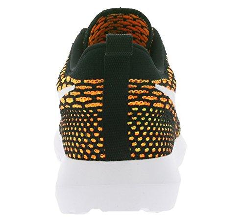 Nike Mens Roshe NM Flyknit Shoe, Scarpe da Ginnastica Uomo Black (Nero / Bianco-arancio-volt Totale)