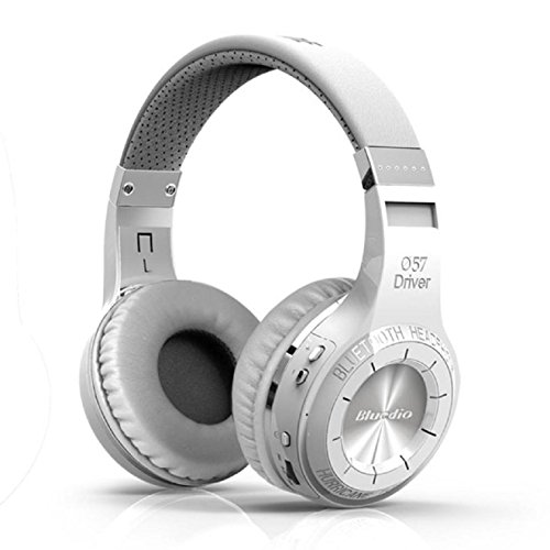 Price comparison product image Sports Bluetooth Headset,ZIYUO Bluedio Turbine Hurricane H Bluetooth 4.1 Wireless Stereo Headphones (White)