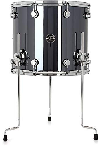 DW Performance Series Floor Tom - 14 Inches X 16 Inches Chrome Shadow FinishPly