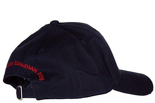 Dsquared2 adjustable men's cotton hat baseball cap gabardine blu by DSQUARED2 (Image #3)
