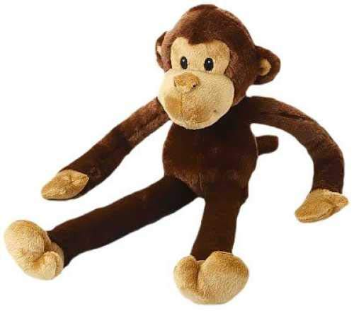 Multipet Swingin Safari Monkey Plush Dog Toy Large (22