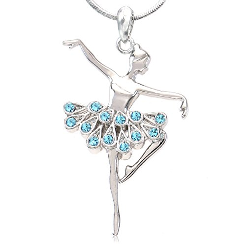 Soulbreezecollection Dancing Ballerina Dancer Ballet Dance Pendant Necklace Charm (Dance Pendant Necklace)