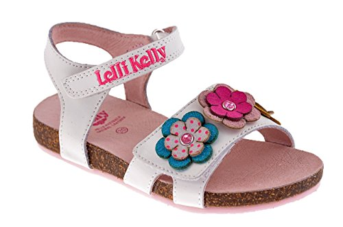 Lelli Kelly 7530 Sandale Neu Kinderschuhe Weiß / Pink