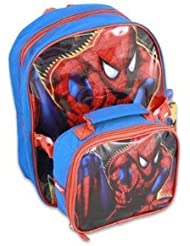 Spiderman 12 Toddler Backpack with Attachment Utility Bag Pouch