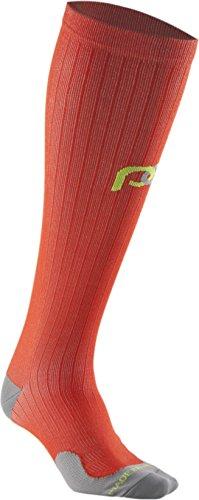 PRO Compression: Marathon (Full-Length, Over-the-Calf) Compression Socks, Orange, Large/X-Large