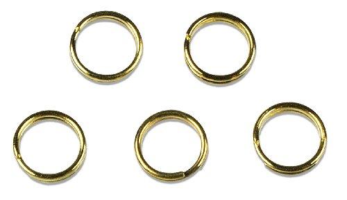 Cousin Gold Elegance 14K Gold Plate Split Ringl, 12-Piece, (14k Gold Plate Bead)