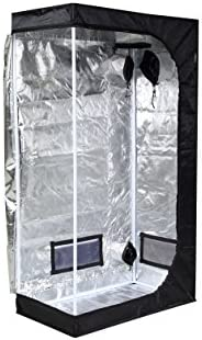 iPower GLTENTXS2 Hydroponic Water-Resistant Grow Tent, 32