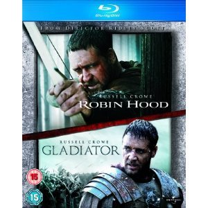 Robin Hood Blu-ray Director's Cut 2-disc (Region Free) / Gladiator Blu-ray - 2-disc Extended Version (Region Free)