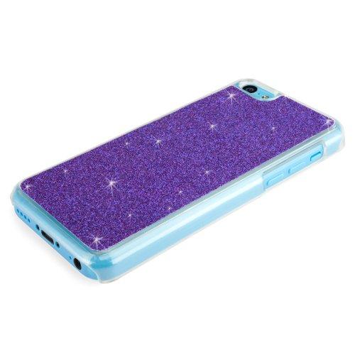 BoxWave Glitter Coque fine pour Apple iPhone 5C coque arrière avec paillettes Sparkle–Apple iPhone 5C Cas (Violet)