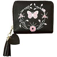 Short Zipper Wallet Purse for Women (Black)